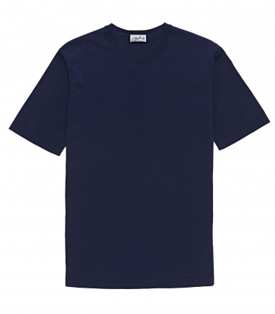 T-SHIRT BLUETTE IN COTONE CRÊPE