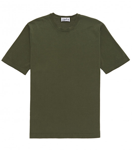 T-SHIRT FOREST GREEN COTTON CRÊPE