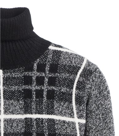 TURTLENECK SWEATER LONG SLEEVE ARGYLE