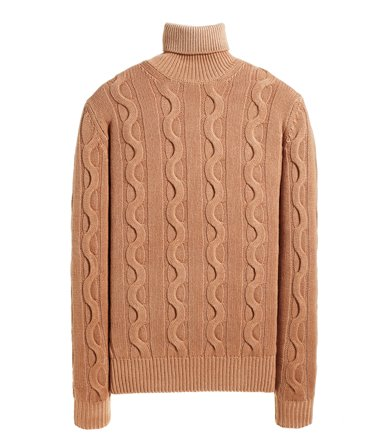 CABLE TURTLENECK SWEATER LONG SLEEVE