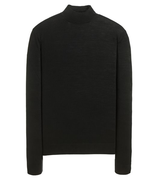 MOCKNECK SWEATER LONG SLEEVE ROYAL SUPERFINE MERINO WOOL
