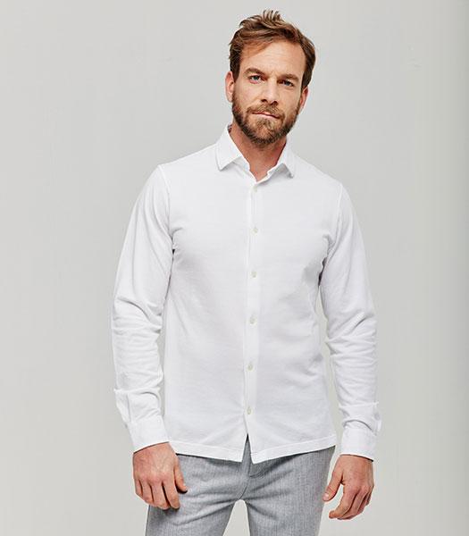 camicia-bianco-manica-lunga-vestibilita-dritto-in-piquet-vintage