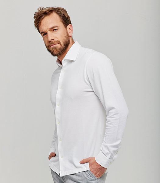 camicia-grigia-manica-lunga-vestibilita-dritto-in-piquet-vintage