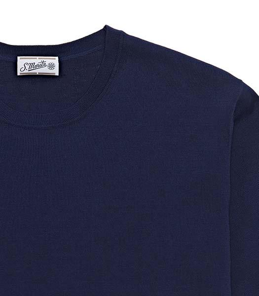 T-shirt a manica corta in cotone bluette