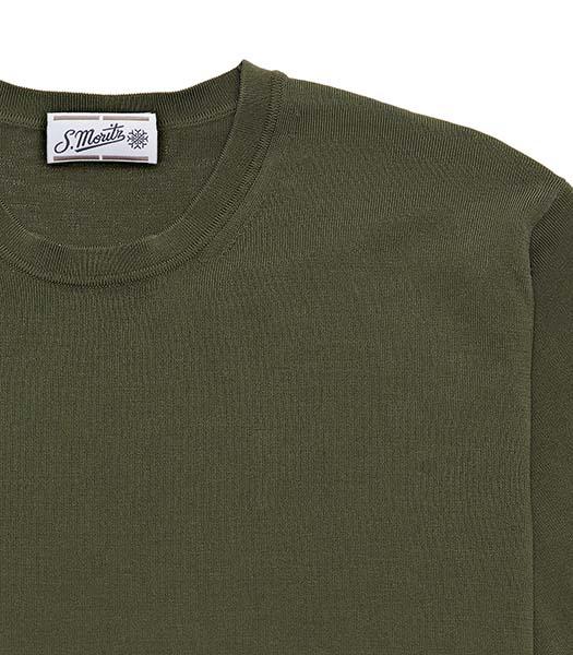 T-shirt a mezza manica in cotone bosco