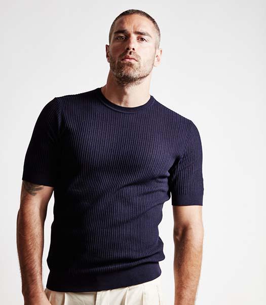 maglia-uomo-girocollo-manica-corta-cotone-blu