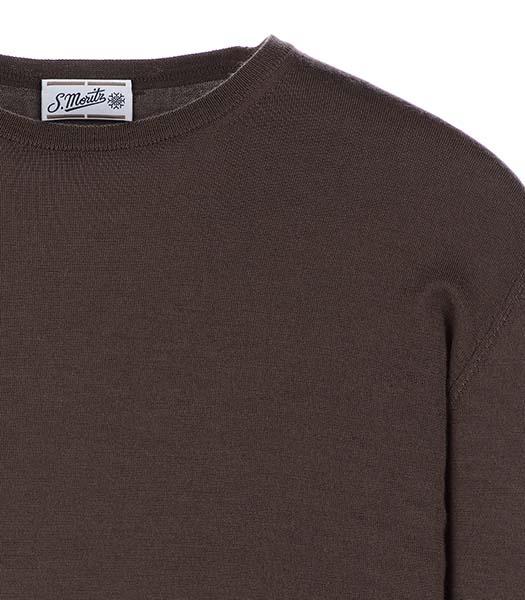Maglie girocollo in lana e seta visone