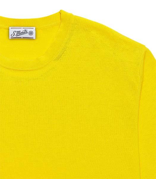 T-shirt mezza manica cotone giallo