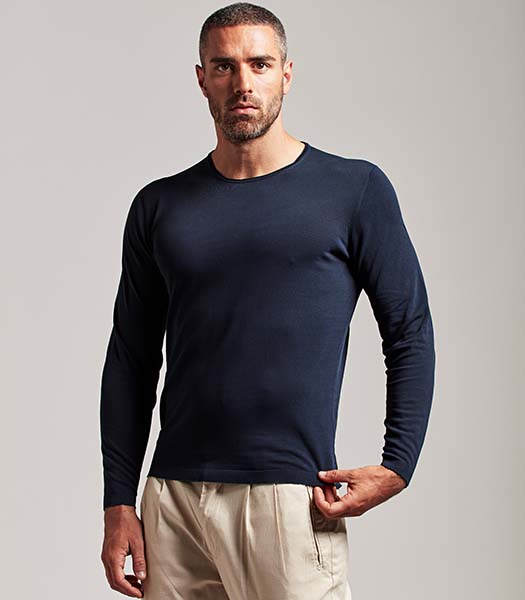 T-shirt manica lunga uomo blu